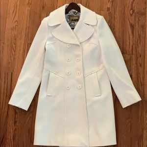 GUESS off white pea coat